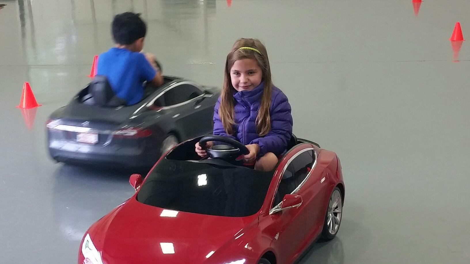Behind the wheel: Kids test-drive Teslas in Vienna