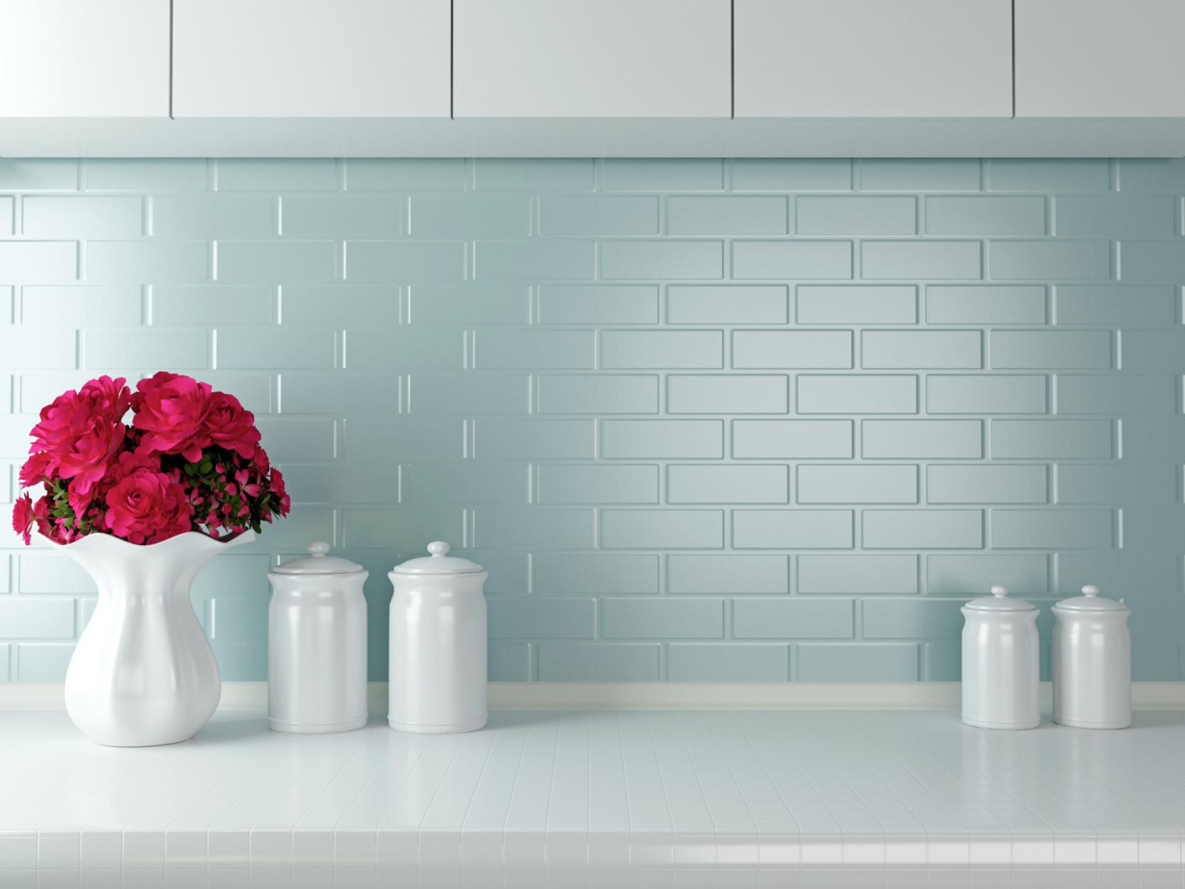 White kitchen design.