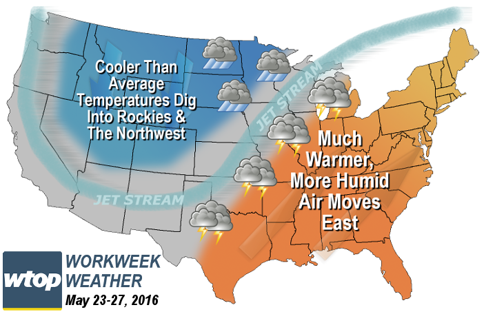 Weekday weather outlook: Warm weather is on the way