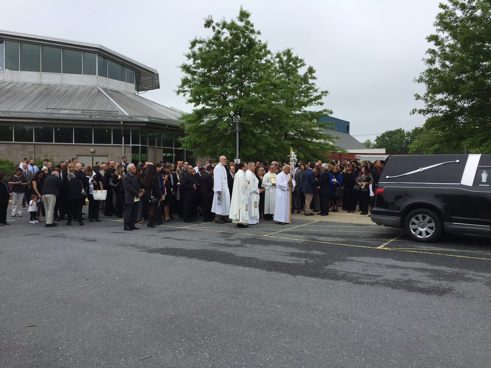 Malcom Winffel of Boyds was remembered as a hero at his funeral Thursday. (WTOP/John Aaron)