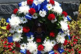 American Legion wreath for Civil War soldiers. (WTOP/Allison Keyes)