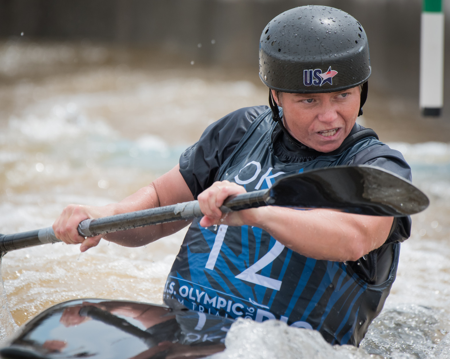 Ashley Nee competing in the Olympic trails in Oklahoma City, where she finished in first place. (Courtesy Tom Dunning)