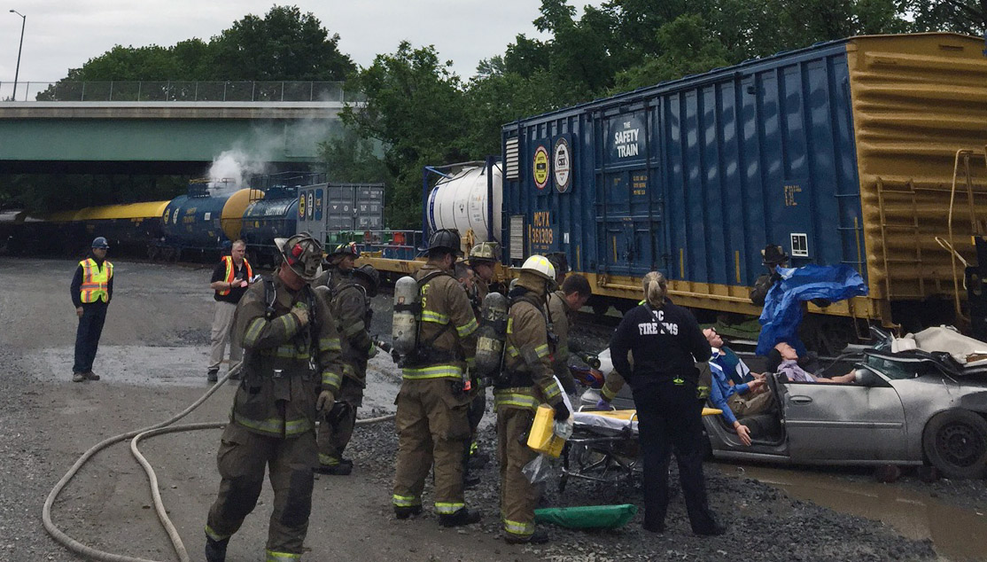 Drill tests response to freight train wreck 2 weeks after real thing