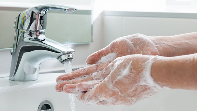 How many office workers leave the bathroom without washing their hands?