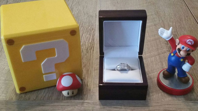 Man's creative Super Mario proposal gets high score with bride-to-be