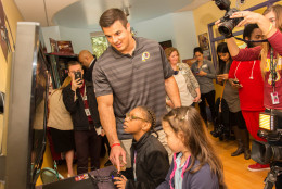 Redskins linebacker Ryan Kerrigan joked that the kids didn't want to play football but rather another video game that was 'more fun.' (Courtesy Prolanthropy)