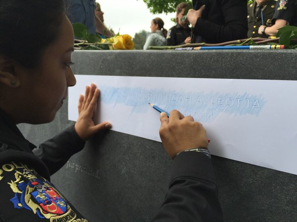 Fallen Md. officers' names added to memorial walls
