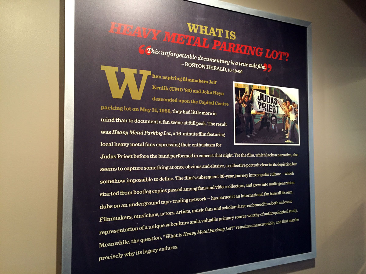 A panel from the exhibition explains the film's origins. (WTOP/Michelle Basch)