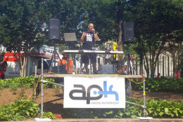Founder of American Parkour,  Mark Toorock, kicked off 11th annual #Parkour Festival. (WTOP/Kathy Stewart)