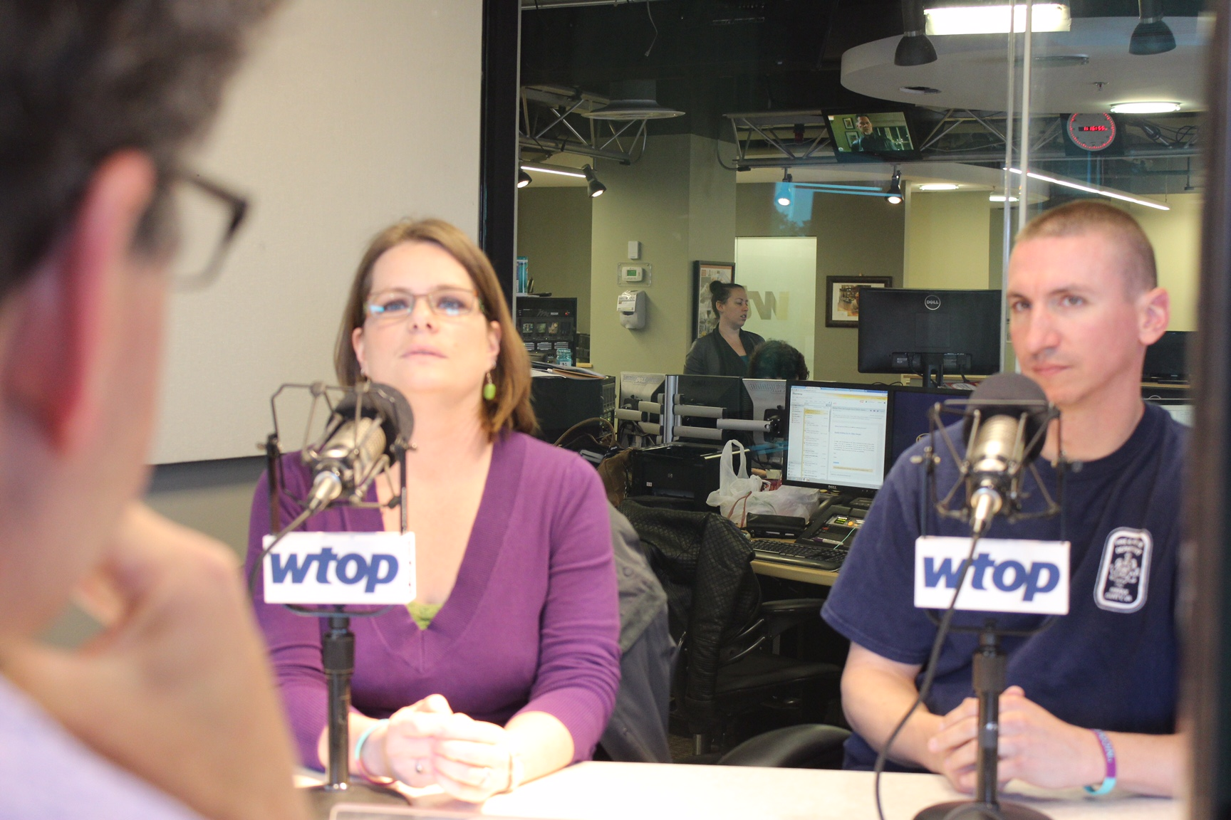 For the first time, Jennifer Clardy Chalmers and  Steve Mittendorff discussed Nicole Mittendorff's suicide. (WTOP/Jason Fraley)