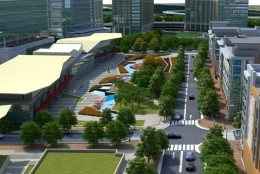 The Hub is the largest approved development site along the Silver Line.