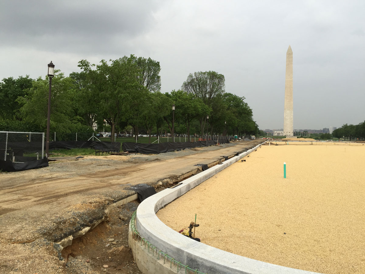 National Mall lawn restoration project beginning its final stages