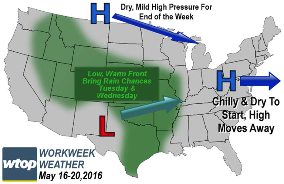 Frost possible as the region goes from March to May this week