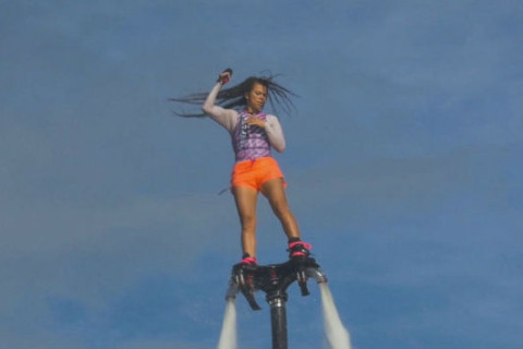 Stuntwoman talks latest addition to extreme sports: flyboarding