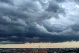 Clouds as seen from Adams Morgan. (Photo submitted via WTOP app)