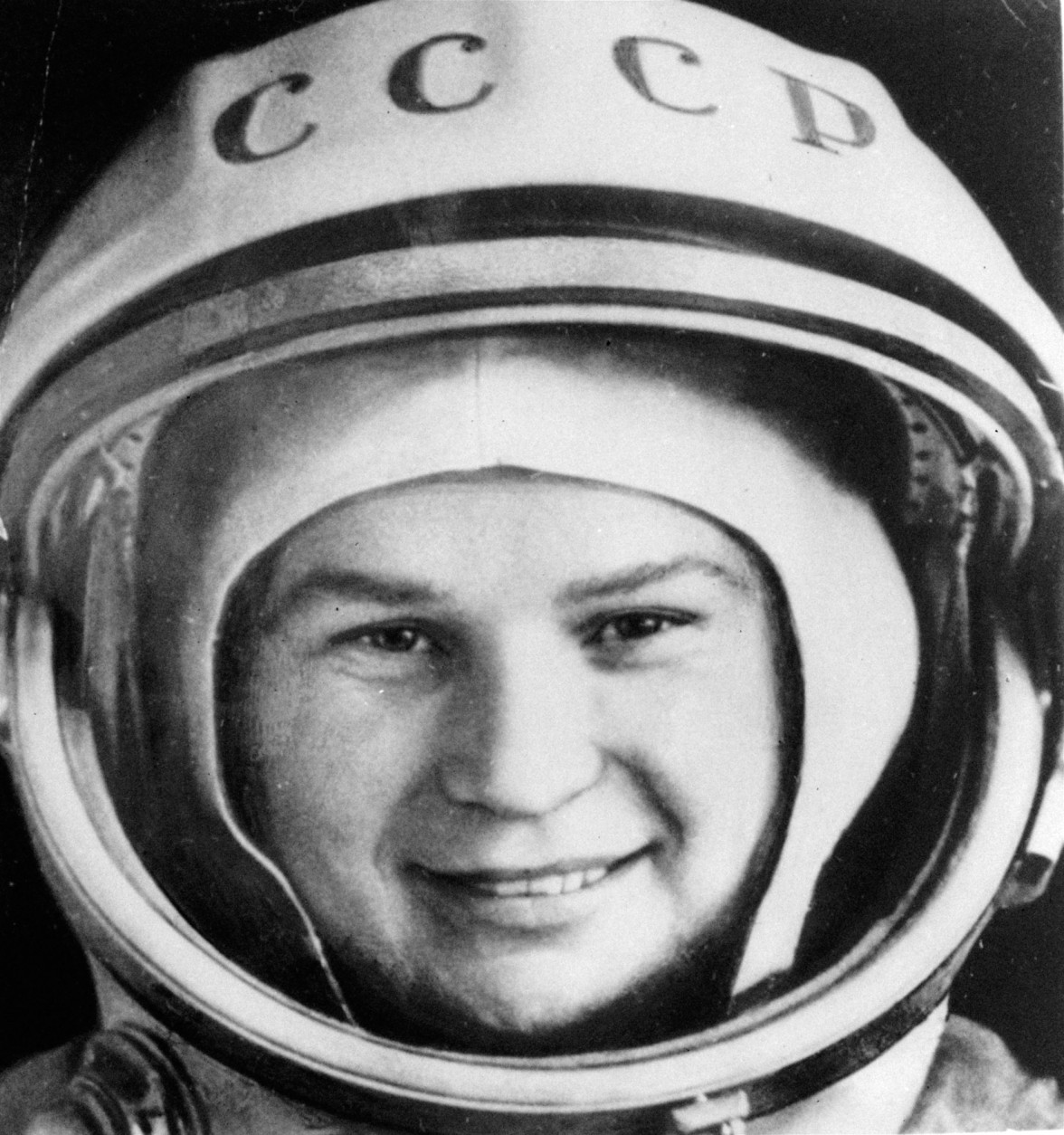 Valentina Tereshkova, who became the first woman in space in 1963, is seen in a space suit in this undated file photo. Tereshkova's three-day flight, which started June 16, 1963, further strengthened the prestige of the Soviet space program after Yuri Gagarin became the first man in space in 1961. (AP Photo/  ITAR-TASS )