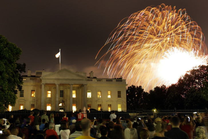 Fireworks to celebrate the 4th of July explode behind The White House in  Washington Saturday 020b11c4e
