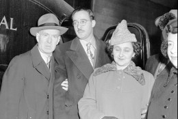 FILE--Mr. and Mrs. Julius Rosenberg, center, shown in this 1951 file photo, were charged by the U.S. government to commit espionage by transmitting national secrets to Soviet Russia. The CIA and National Security Agency released 49 messages between Moscow and its KGB operatives in New York and Washington that were intercepted in the mid-1940s and painstakingly decoded by cryptology experts at the Army Signal Intelligence Service, a forerunner of the NSA.  The materials ``may lay to rest a major Cold War controversy. ... Were the Rosenbergs guilty?'' NSA historian-in-residence David Kahn told reporters Tuesday, July 11, 1995 for a ceremonial release of the papers at CIA headquarters. (AP Photo/File)