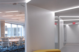 In this handout photo, the new home for the American Society of Interior Designers is seen. The staff has moved into the new space at 1152 15th Street NW where they are testing the new office environs with the help of Cornell University. The space is intended to be a lab to test new standards and metrics for the office of the future. (Courtesy American Society of Interior Designers)