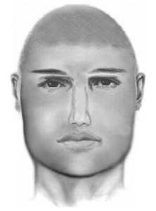 A drawing based on witness descriptions of a man police say sexually assaulted a woman in her apartment early Sunday. (Courtesy of the Arlington County Police Department)