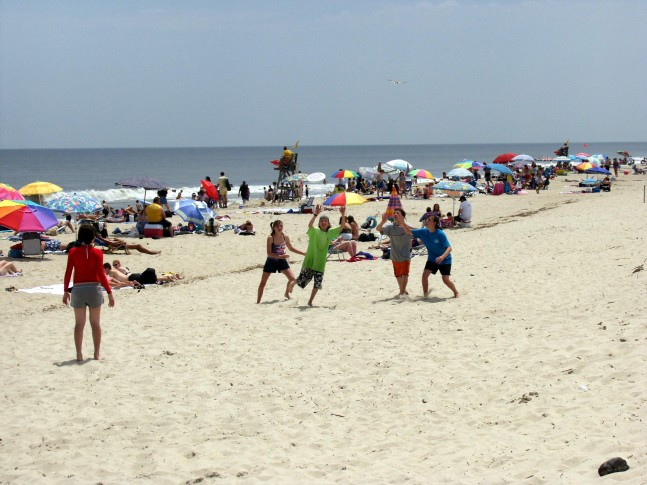 Visitors Play On The Beach At Delaware Seas State Park In Rehoboth Courtesy Parks