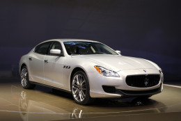 FILE - In this Jan. 14, 2013, file photo, the 2014 Maserati Quattroporte debuts at media previews for the North American International Auto Show in Detroit. Fiat Chrysler is adding 13,000 Maseratis to a recall of vehicles with confusing gear shifters like one in the SUV that crushed and killed Star Trek actor Anton Yelchin. The company said Thursday, June 23, 2016, it's adding 2014 and 2015 Quattroporte and Ghibli sedans to the recall under pressure from the National Highway Traffic Safety Administration. (AP Photo/Paul Sancya, File)