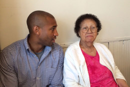 Jason Green and his grandmother, Pearl Green. (WTOP/Kate Ryan)