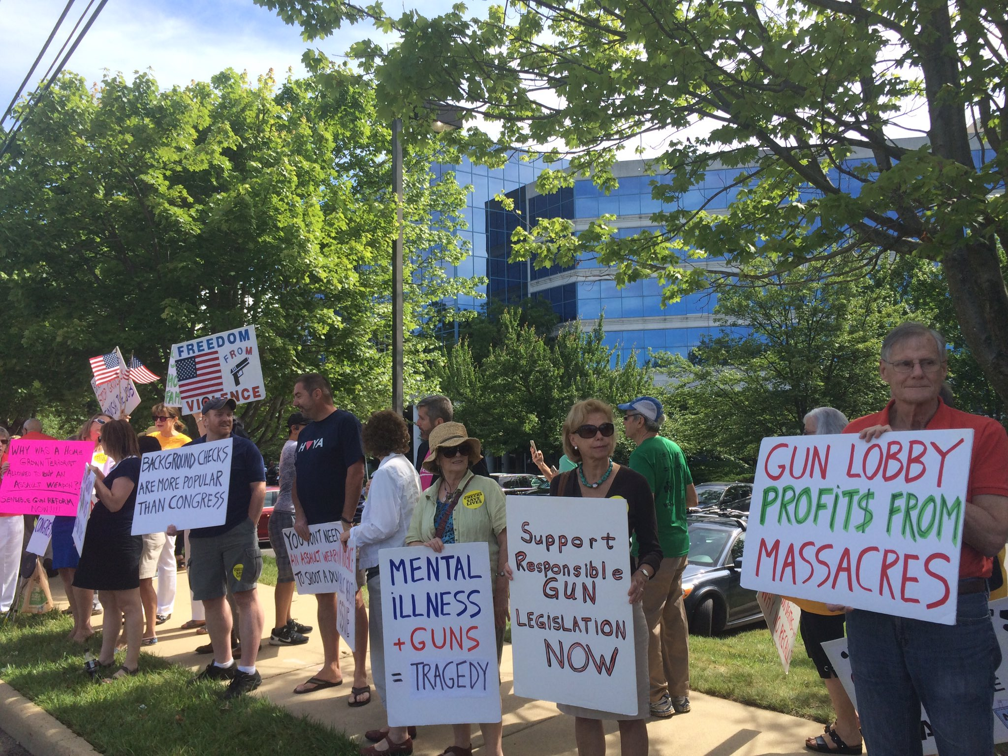 Protesters rally at NRA headquarters, call for stricter gun control