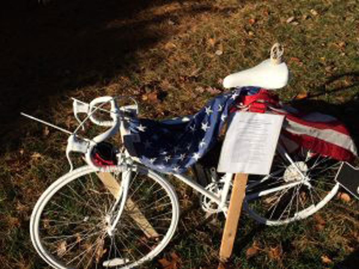 'Ghost bike' honoring Navy SEAL stolen from memorial in Bethesda