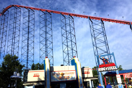 Six Flags America's SUPERMAN: Ride of Steel Virtual Reality Coaster puts thrill-seekers into a virtual world of Superman. (Courtesy Six Flags America)