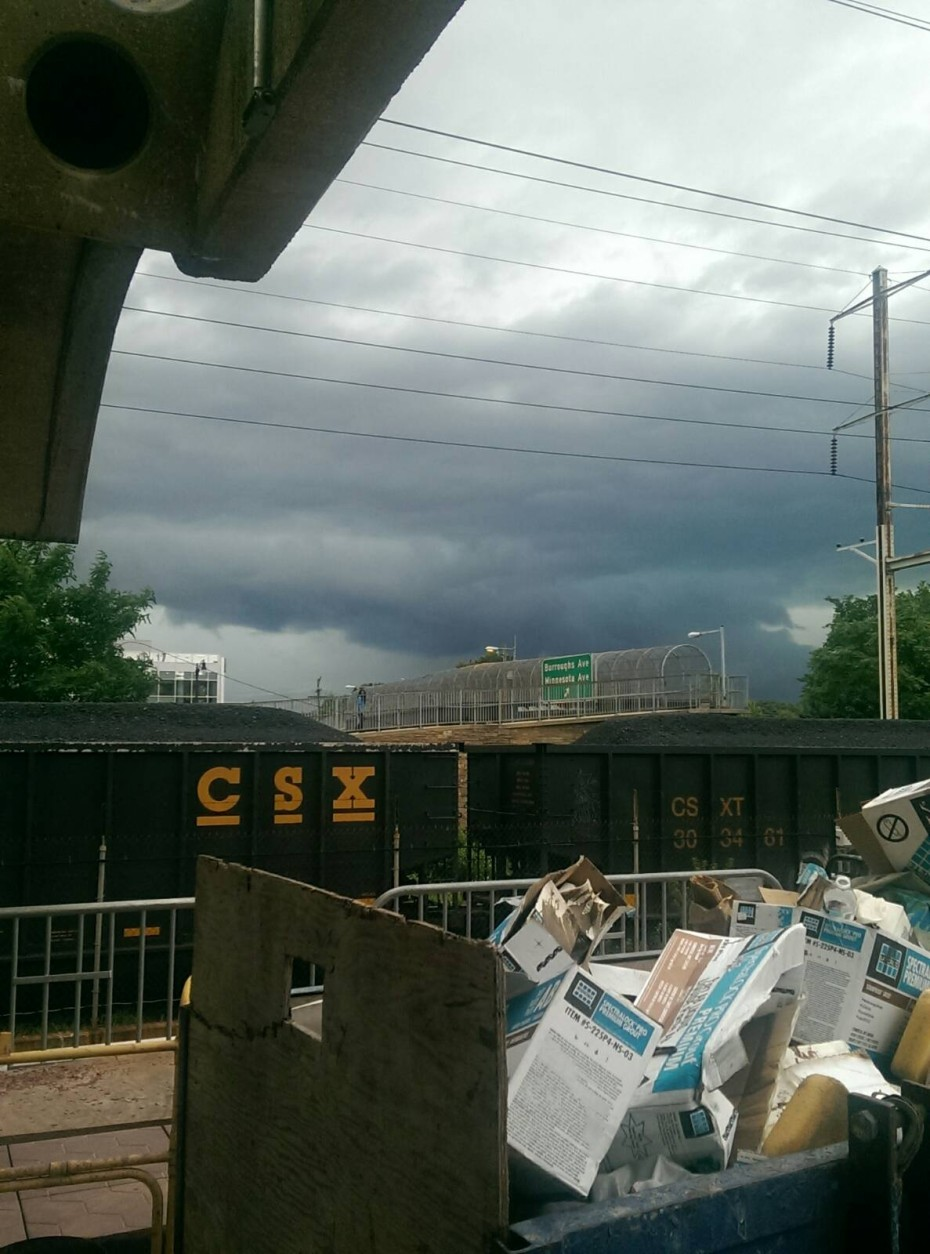 Storm clouds over the Minnesota Avenue station on June 21, 2016. (Photo submitted via WTOP app)