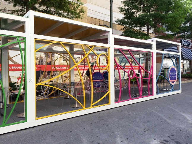 outdoor office space. OUTBOX Is A Pop-up Office Space On Ellsworth Drive In Downtown Silver Spring. The Structure Outfitted With Tables, Chairs, WI-FI And Outlets. Outdoor