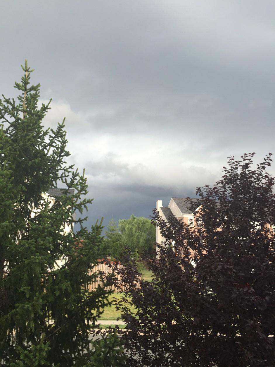 Clouds in Potomac Station, Leesburg on June 21, 2016. (Courtesy Kathy Teleki)