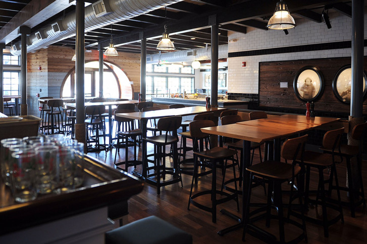 The Inside Of Chesapeake And Maine Restaurant Courtesy Dogfish Head