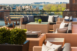 The Rosewood Hotel in Georgetown has a rooftop bar and lounge that's open to guests and locals, alike. (Courtesy The Rosewood)