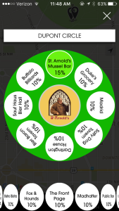 The Spotluck app includes a wheel you can spin once a day for discounts. (Photo courtesy of Spotluck)
