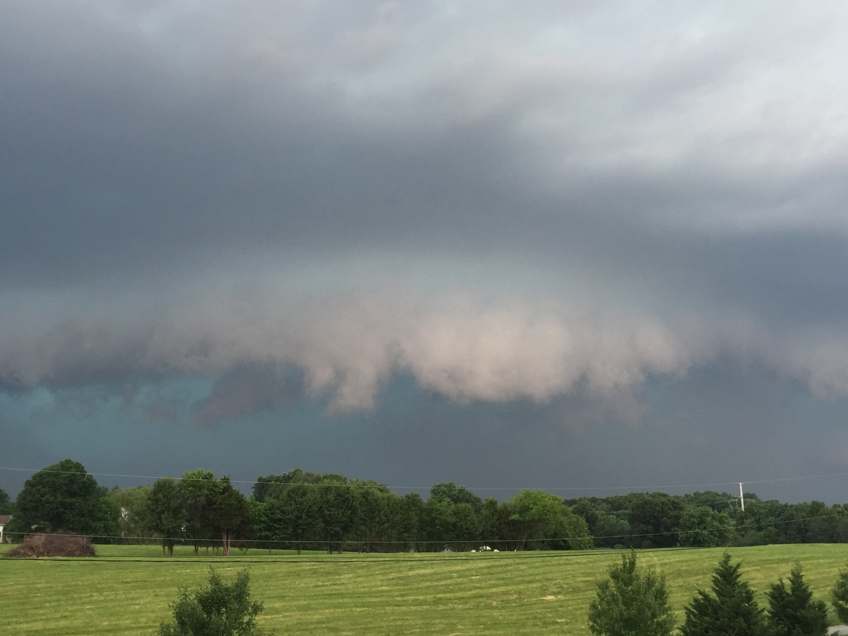 Storm clouds in Scaggsville, Maryland on June 21, 2016. (Courtesy Carrie D. Bright)