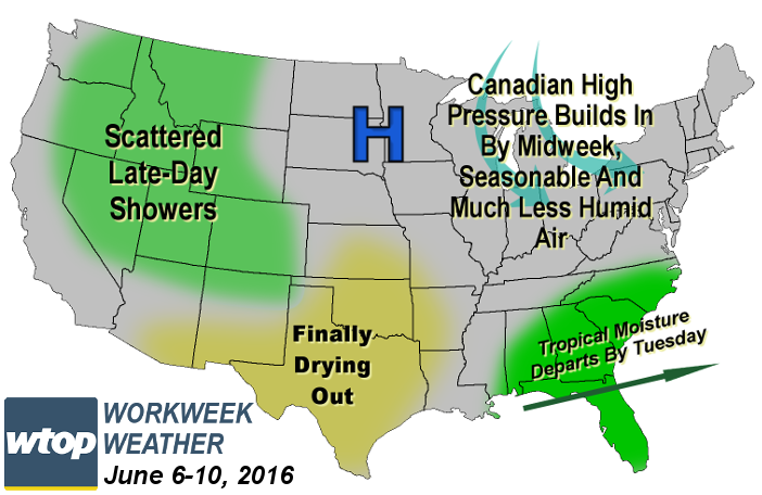 Workweek weather outlook: Cold fronts bring comfortable changes