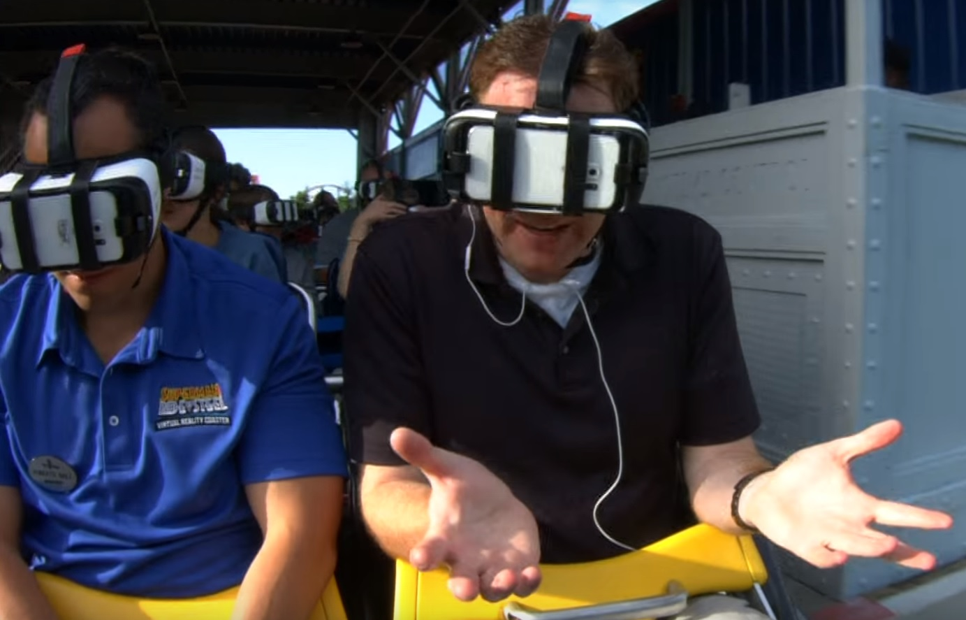Fly like Superman: WTOP tests Six Flags' virtual reality coaster (Photos, Video)