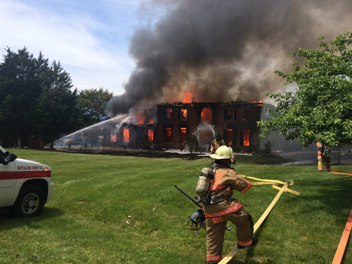 Large Potomac house a total loss after fire