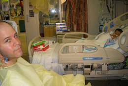 Miles and Serena Fawcett post transplant surgery. (Courtesy the Fawcett family)