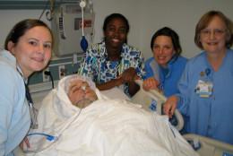 Miles Fawcett and the team at MedStar Georgetown University Hospital. (Courtesy the Fawcett family)