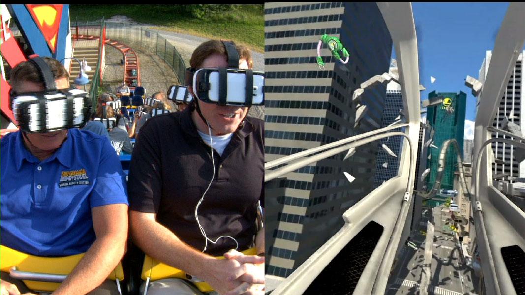 Exemplo de atração de realidade virtual