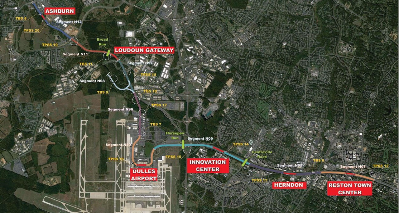 Silver Line Dc Map.Silver Line Extension Project On Track Barely Wtop