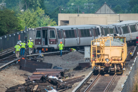 Photos of Metro derailment reveal history of troubled track work