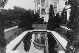 This is a view of the South Portico of the White House, the presidential residence, in Washington, D.C. in 1921. (AP Photo)