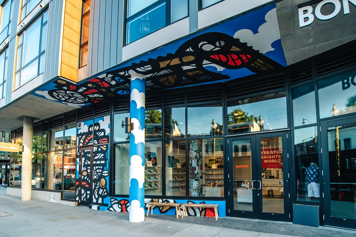 """BucketFeet has two other U.S. locations, both of which are in Chicago. Firestein said expanding the company's footprint into D.C. reinforced BucketFeet's mission to connect people through art. """"The fact that it's a city that's so international, in nature, and we work with artists all over the world, it's just a perfect fit,"""" he said."""