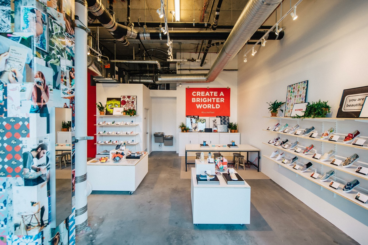 BucketFeet, a Chicago-based brand that sells slip-on and lace-up sneakers designed by independent artists from all over the world, just opened up its first D.C. location. (Courtesy MoKi Media)