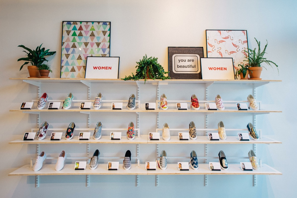 Independent artists submit their designs to BucketFeet, which are selected and sold on shoes. (Courtesy MoKi Media)