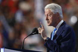 Former President Bill Clinton speaks during the second day of the Democratic National Convention in Philadelphia , Tuesday, July 26, 2016. (AP Photo/Paul Sancya)
